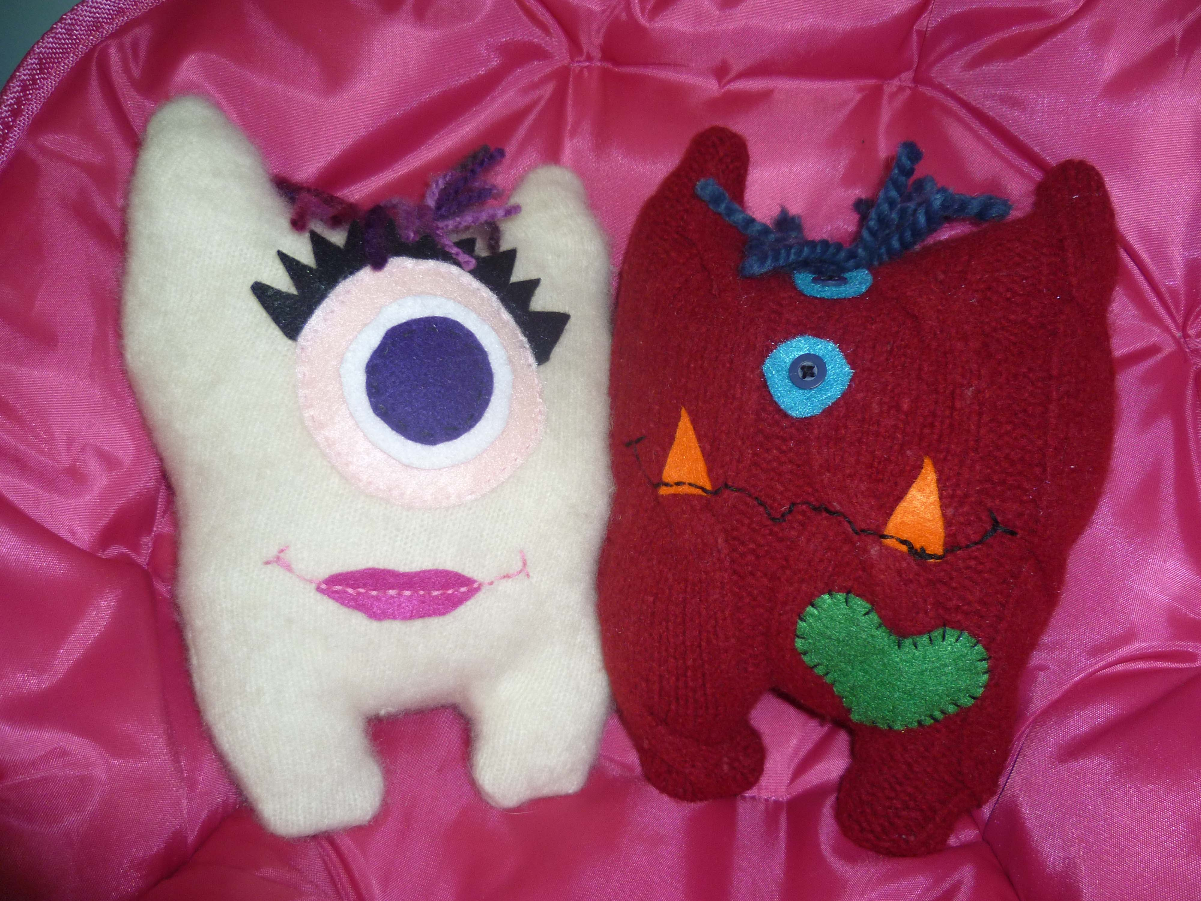 Handmade Monster Stuffies