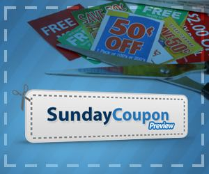 Find out what coupons are in the Sunday paper