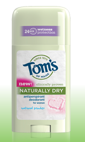 Tom's of Maine Naturally Dry Antiperspirant and Deodorant