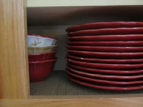 Spruce up cupboards with shelf liners