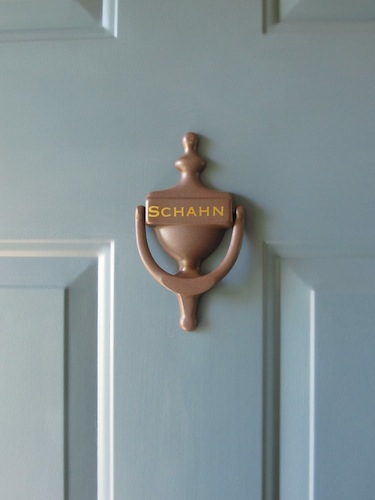 Dress up a door knocker