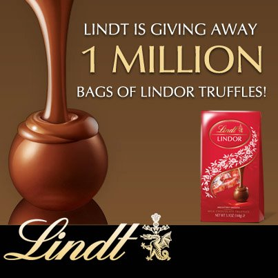free bag of Lindt Lindor Truffles
