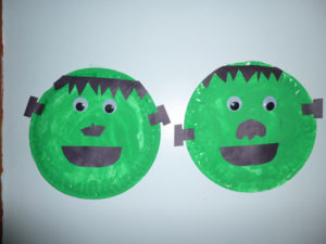 Frankenstein paper plate craft