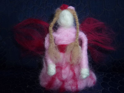 Needle-felted fairy doll
