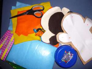 Making the handmade hand puppet