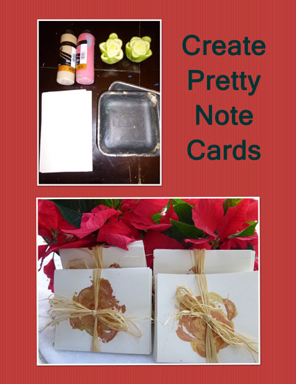 Create pretty note cards