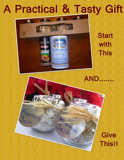 Create rosemary salts
