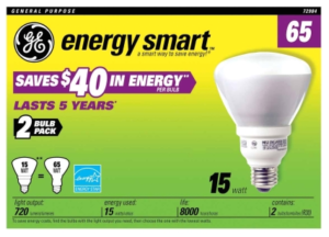 GE Energy Smart CFL 15 watt Bulb 2-pack