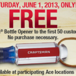 Free Craftsman Bottle Opener