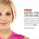 free bang trim or beard trim