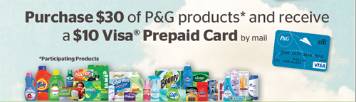 P&G Mail-in Rebate: Get $10 Back by Mail