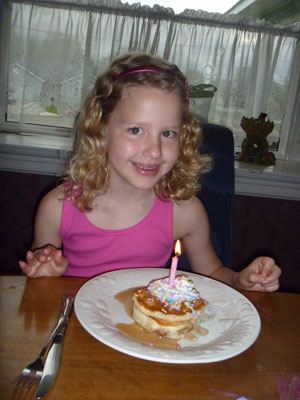 Make a Child's Birthday Special: Birthday pancakes