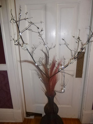 Creative Halloween Craft: Ghostly Tree Branch