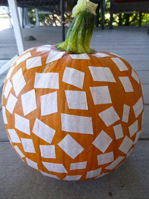 Square Pumpkin project in progress
