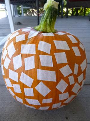 Square Pumpkin project in progress