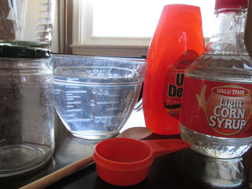 Ingredients for Homemade Bubble Solution