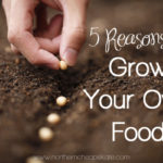 5 Reasons to Grow Your Own Food