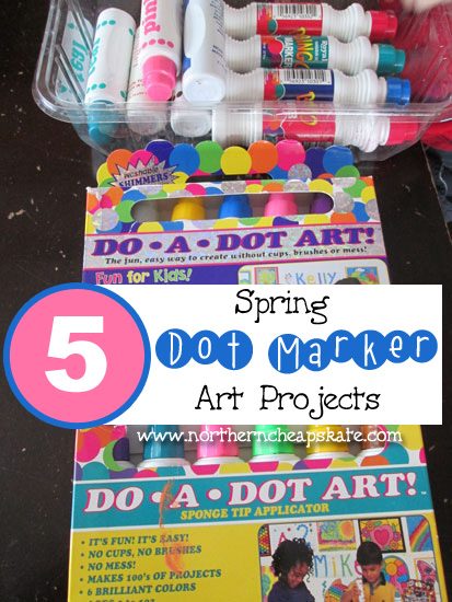 5 Spring Dot Marker Art Projects