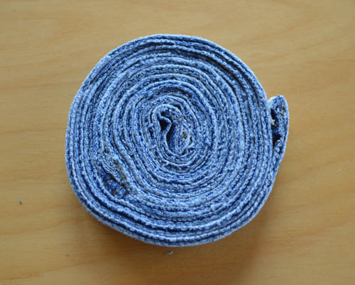 How to Make Denim Coasters: The finished product