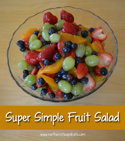 Super Simple Fruit Salad - Northern Cheapskate