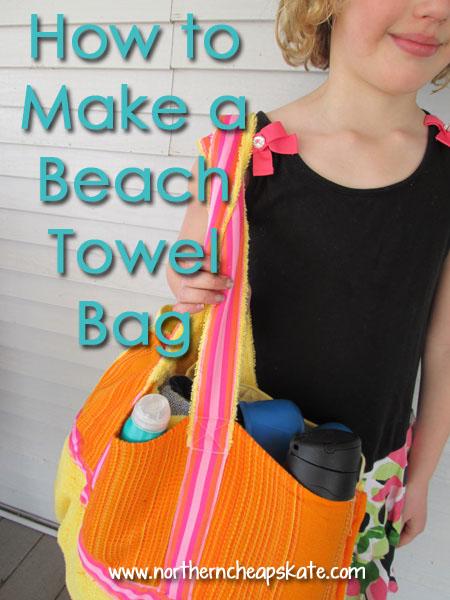 How to Make a Beach Towel Bag