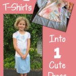How to Turn 2 T-Shirts Into a Dress