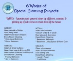 6 Weeks of Special Cleaning Projects