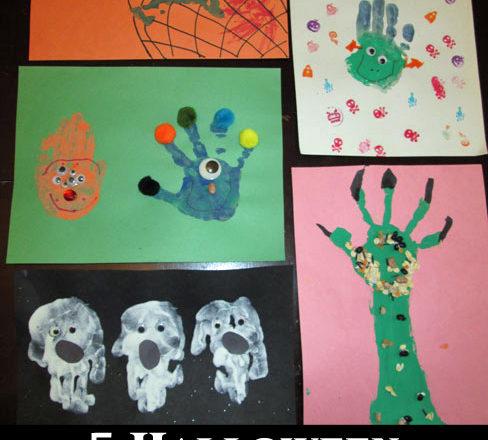 5 Halloween Hand Print Crafts