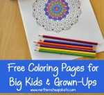 Free Coloring Pages for Big Kids and Grown-Ups