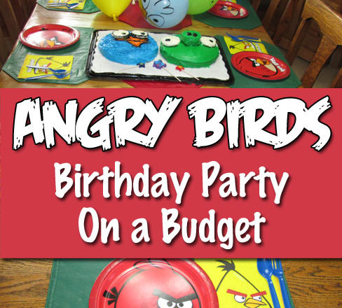 Angry Birds Birthday Party On a Budget