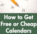 How to Get Free or Cheap Calendars
