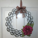 Finished Toilet Paper Tube Wreath