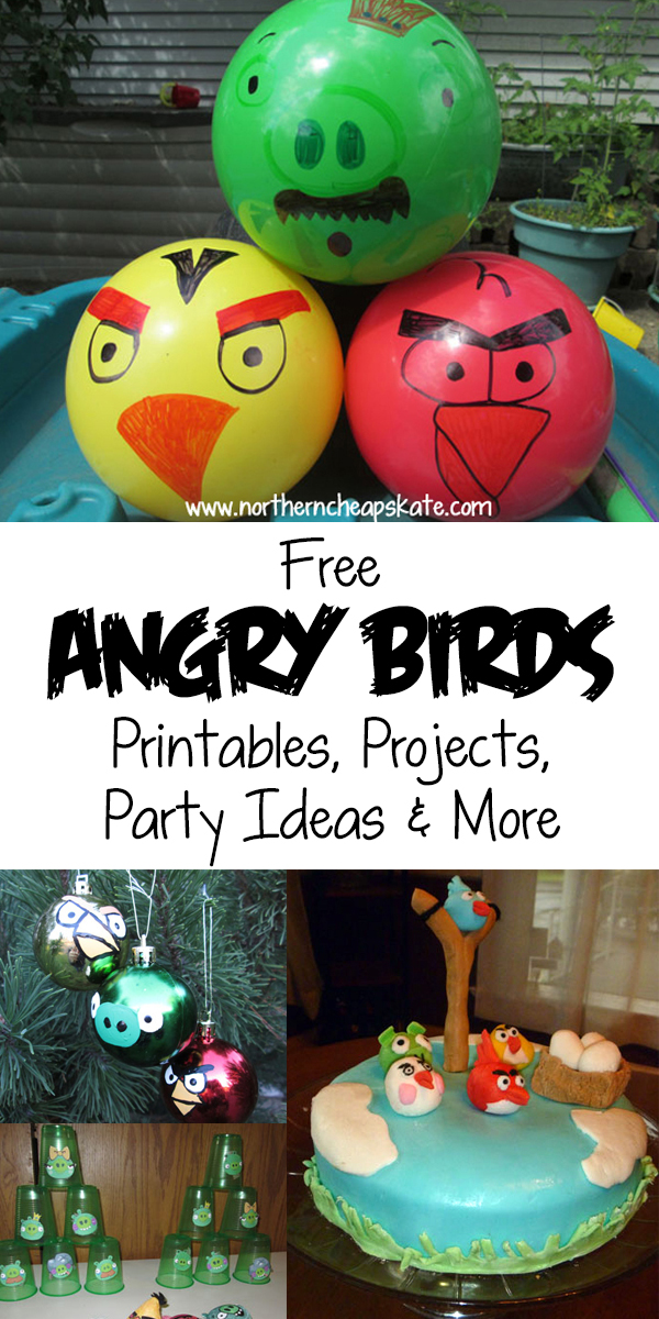 Free Angry Birds Printables, Projects, Party Ideas & More