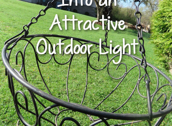 Turn Hanging Planters Into an Attractive Outdoor Light