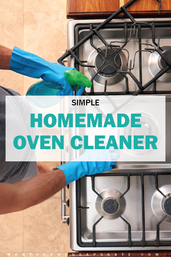 This is a super simple oven cleaner that's non toxic and easy to make! I much prefer using natural and green things for my family.