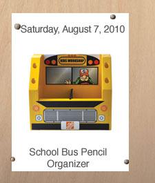 Free Home Depot Kids Workshop: School Bus Organizer