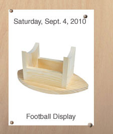 Free Home Depot Kids Workshop: Football Display