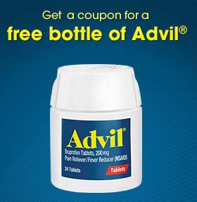 free bottle of Advil