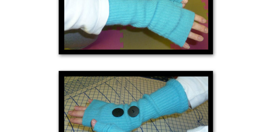 Up-cycling a Cashmere Sweater into Wrist Warmers