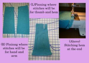 Making Cashmere Wrist Warmers