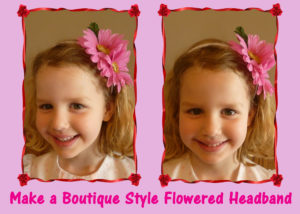Make a Boutique-Style Flowered Headband