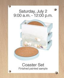 Free Home Depot Kids Workshop: Coaster Set