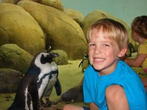 Boy with Penguins