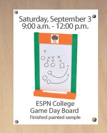 Kids: Make a Free ESPN College Game Day Board