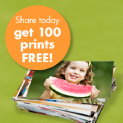 Get 100 Free Prints When You Share Photos