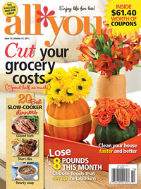 October 2011 All You magazine