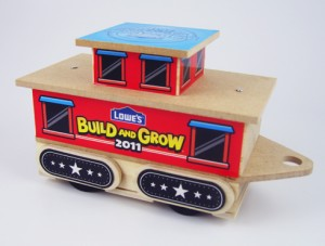 Lowe's Build and Grow Caboose project