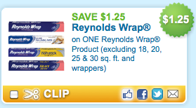 Save $1.25 on Reynolds Wrap + More Hot Coupons