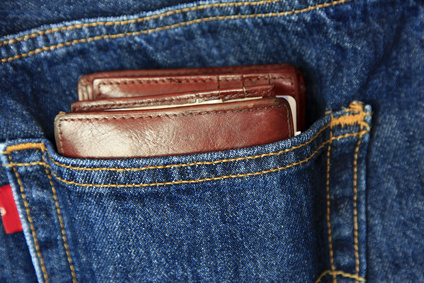 Jeans With Wallet In Pocket