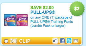 Save $2 on Huggies Pull-Ups + More Coupons